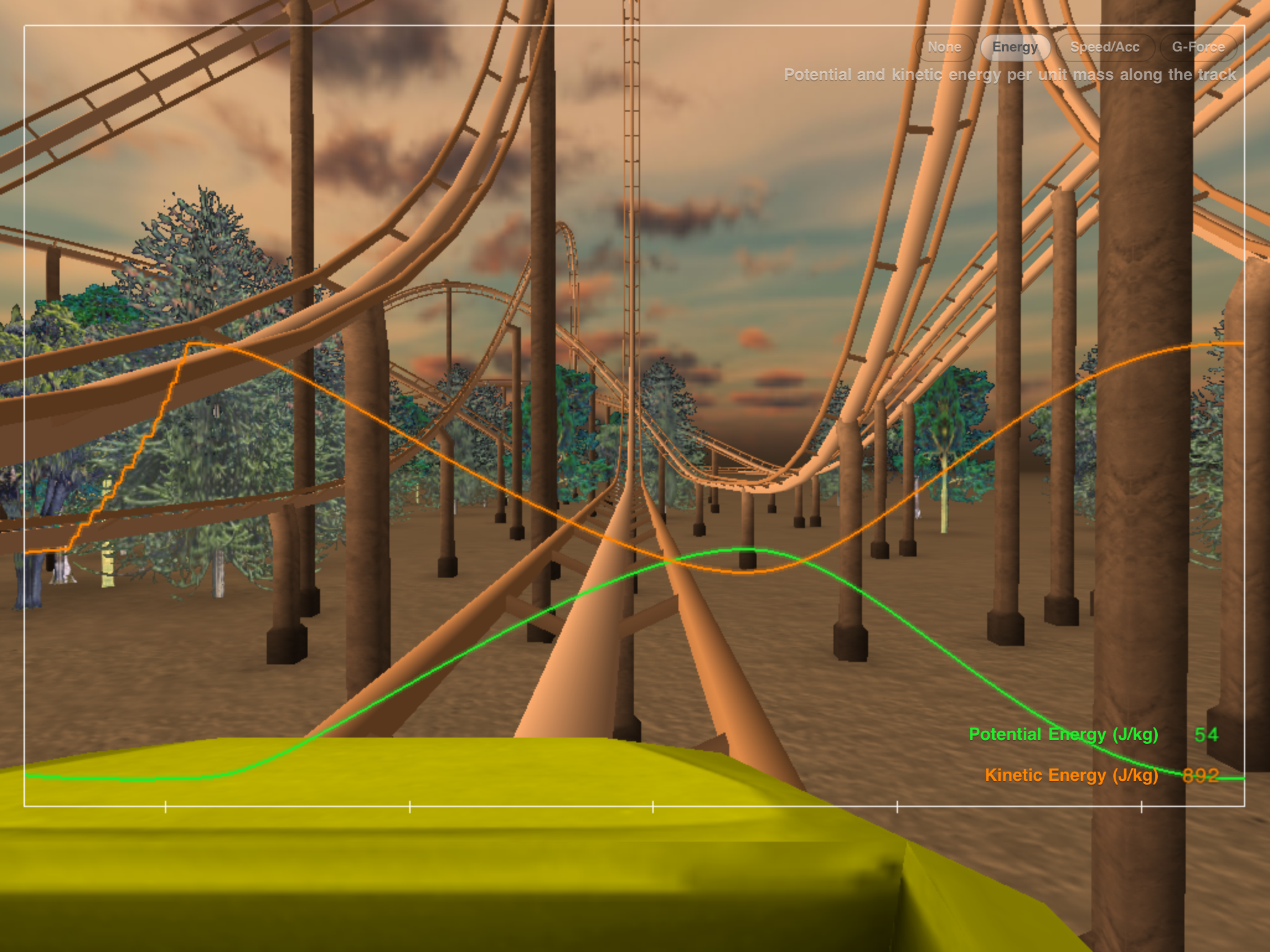 physics in roller coasters How to make a roller coaster work how fast must a roller coaster travel to safely make it though loops and over hills here, you can choose how high up some steep.